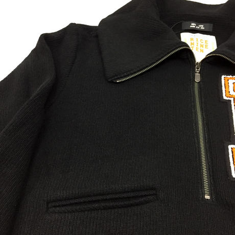 LETTERED PULLOVER SWEATER   (BLACK)