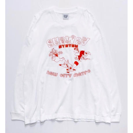 EMBROIDERY SUB WAY L/S TEE