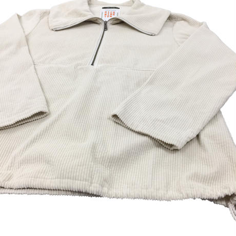 CORDUROY PULLOVER JACKET   (OFF WHITE)