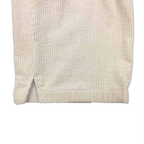CORDUROY WIDE TROUSERS   (OFF WHITE)