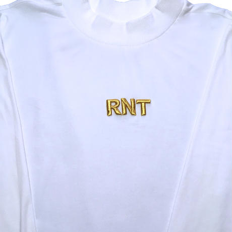 HIGH NECK 3D RNT L/S TEE   (WHITE)