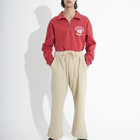 HALF ZIP SWEAT   (RED)