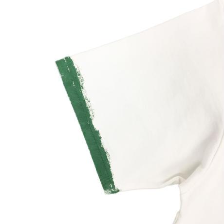 HAND PAINT RINGER TEE  (GREEN RING)