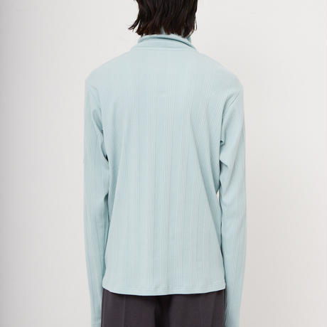 RANDOM TELECO HIGH NECK JERSEY  (MINT BLUE)