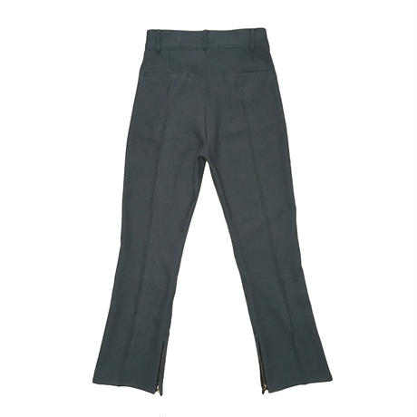 BOOT CUT STA-PREST PANTS (GREY)