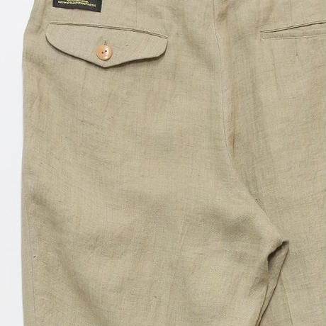 LINEN WASHED TROUSERS  (BEIGE)