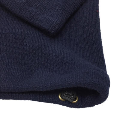 LETTERED PULLOVER SWEATER   (NAVY)