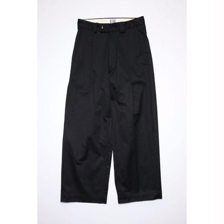 WORKER'S WIDE PANTS (BLACK)