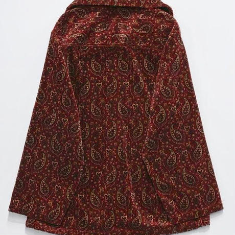 PAISLEY ZIP PULLOVER(RED)