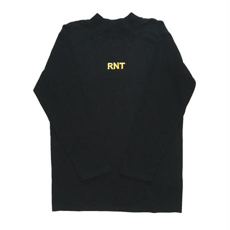 HIGH NECK 3D RNT L/S TEE   (BLACK)