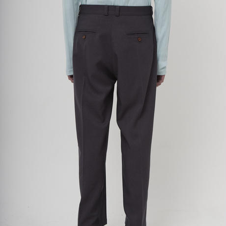 TWILL WIDE TROUSERS   (DULL GREY)