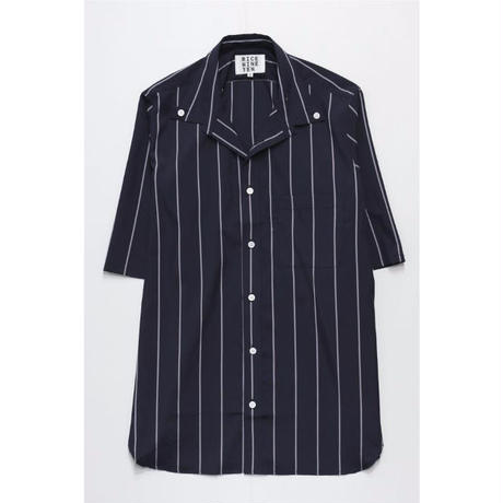 OPEN COLOR BUTTON DOWN SHIRT (BLACK)