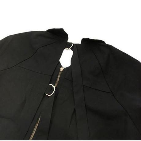 BACK OPEN DRIZZLER JACKET(NAVY)