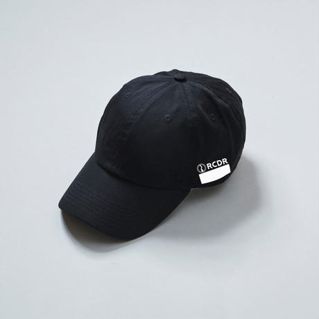 "RCDR ""BOX LOGO"" 6 PANEL CAP / BLACK"