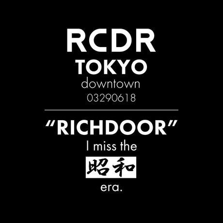 """RCDR """"R-DOOR"""" TEE  [BLACK x WHITE]"""