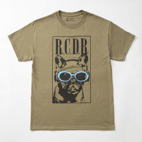 FRENCH BULL×KURT TEE「KHAKI×BLUE」