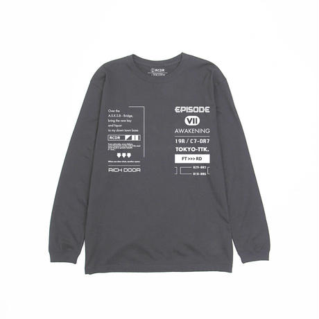 """""""EPISODE VII"""" L/S TEE  [CHARCOAL]"""
