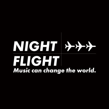ESSENTIAL MUSIC PRESENTS ''NIGHT FLIGHT'' L/S TEE  by RCDR / BLACK