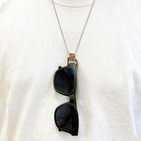 "RCDR ""RD"" EYE WEAR HOLDER NECKLACE / SILVER"