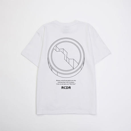"RCDR ""KEY HOLE"" TEE  / WHITE"