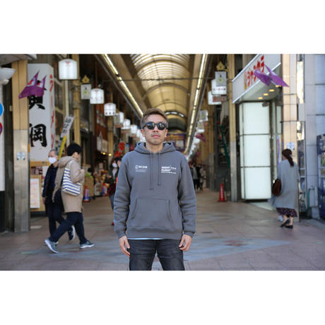 ESSENTIAL MUSIC PRESENTS ''NIGHT FLIGHT'' HOODIE  by RCDR / CHARCOAL GRAY