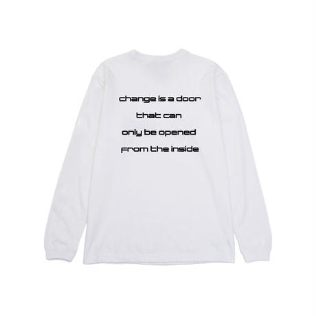 """""""FROM THE INSIDE"""" L/S TEE  [WHITE]"""