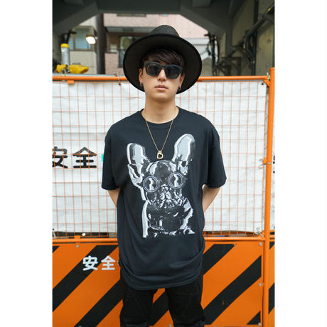 "RCDR ""Dr.PUPPY"" TEE / BLACK"