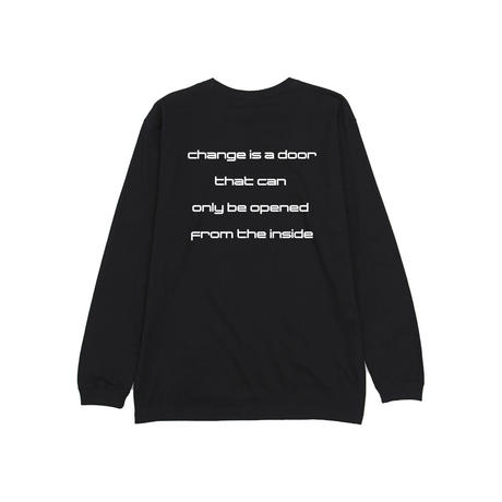 """""""FROM THE INSIDE"""" L/S TEE  [BLACK]"""