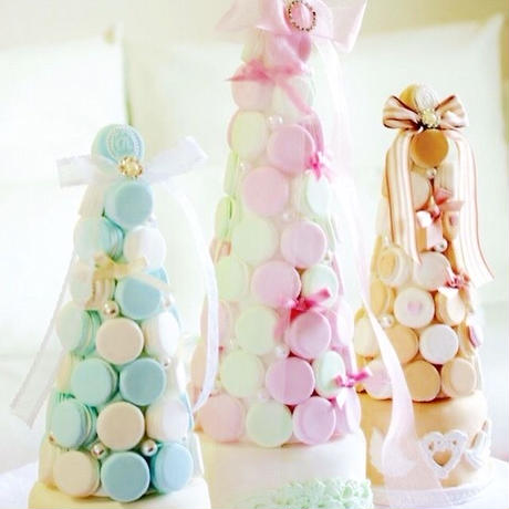 イニシャル・挙式日付入り♡オーダーメイドマカロンタワーMサイズ