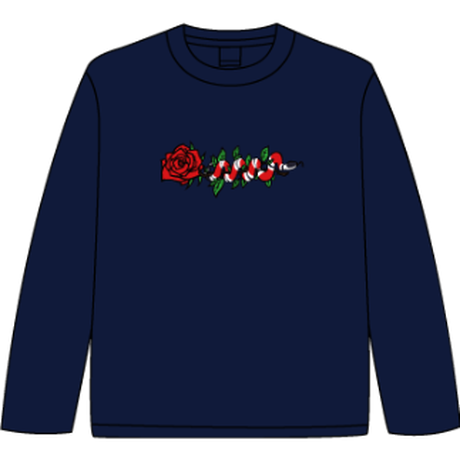 ROSE AND SNAKE L/S TEE / Navy