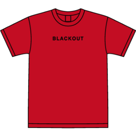BLACKOUT LOGO S/S TEE / Red