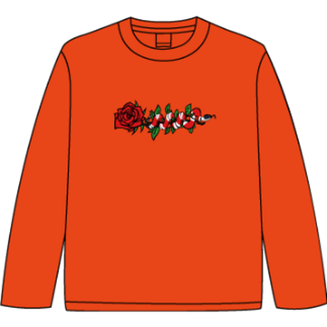ROSE AND SNAKE L/S TEE / Orange