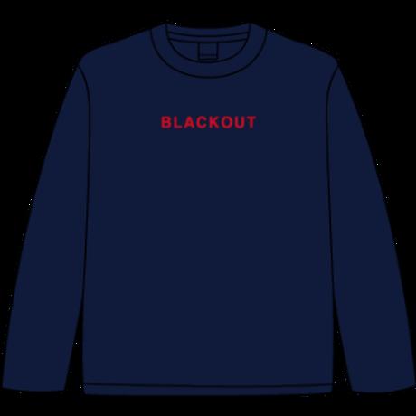 BLACKOUT LOGO L/S TEE / Navy