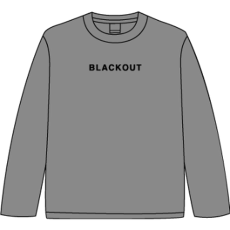 BLACKOUT LOGO L/S TEE / Grey