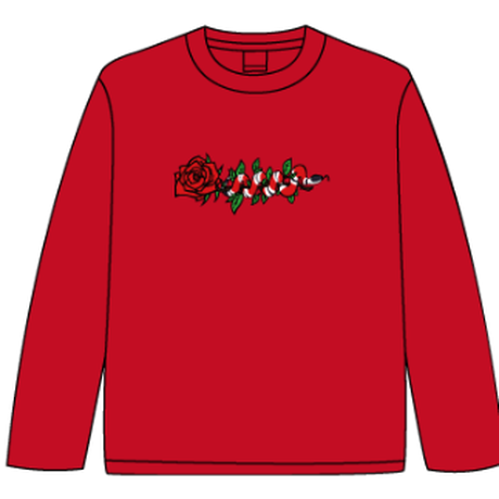 ROSE AND SNAKE L/S TEE / Red