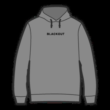 BLACKOUT LOGO HOODIE / Grey