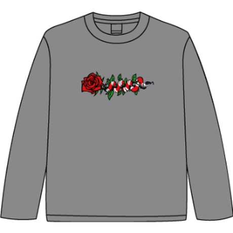 ROSE AND SNAKE L/S TEE / Grey