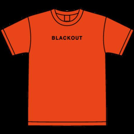 BLACKOUT LOGO S/S TEE / Orange