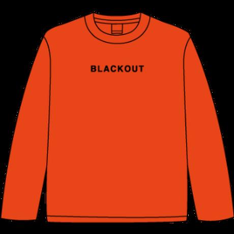 BLACKOUT LOGO L/S TEE / Orange