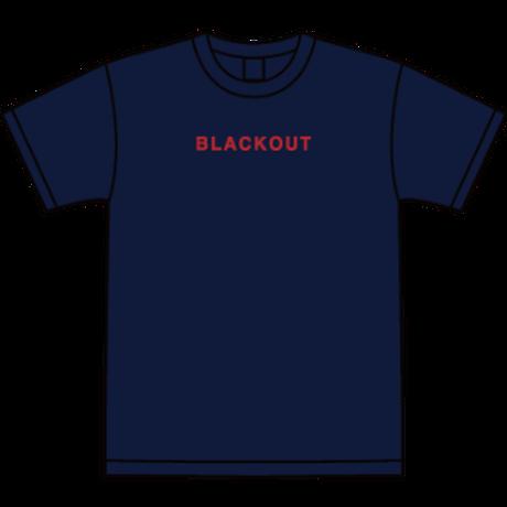 BLACKOUT LOGO S/S TEE / Navy