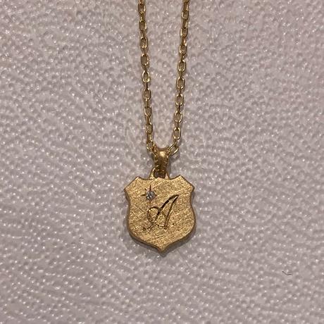 Alphabet charm shield YG