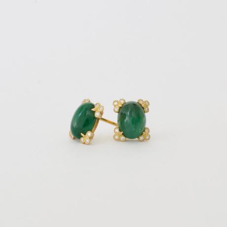 Spread emerald earrings