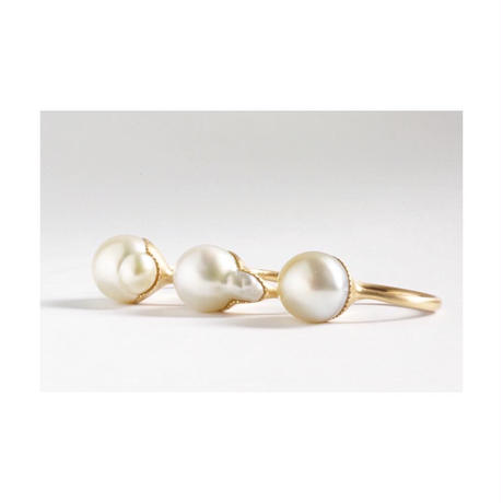 Collet south sea pearl ring