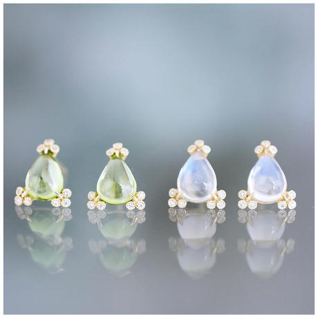 Spread peridot earrings