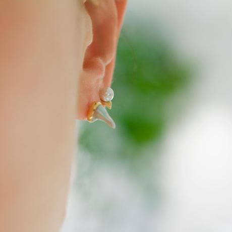 Branche akoya pearl earring