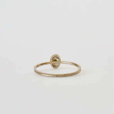 Alphabet ring oval WG