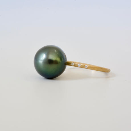 South sea pearl dia ring