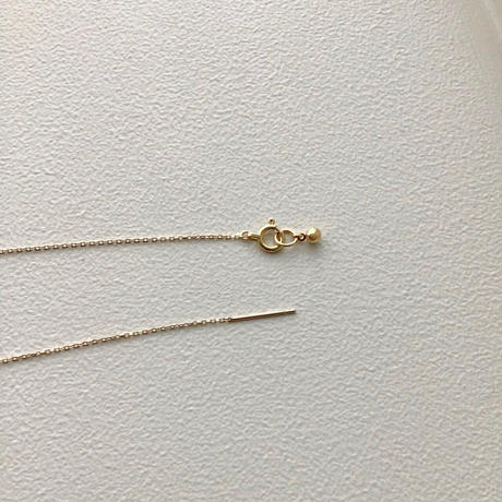 Pink gold chain with slide pin