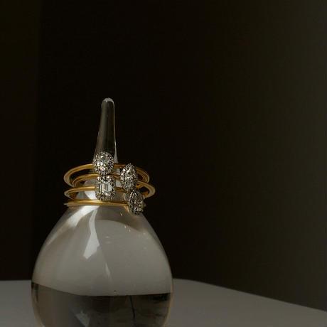 Tulle diamond ring pear