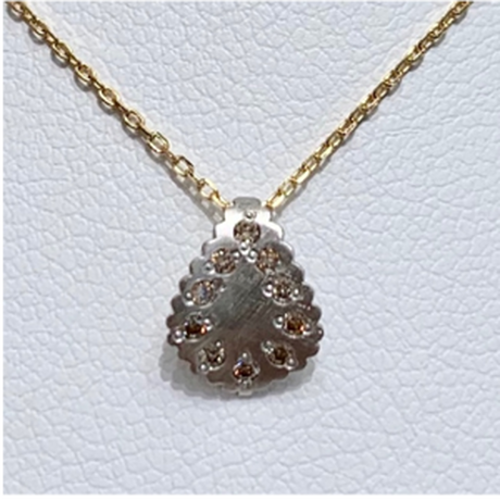 Paisley brown diamond necklace PT YG